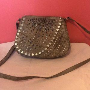 Handbags - Stone Detailed Crossbody Bag